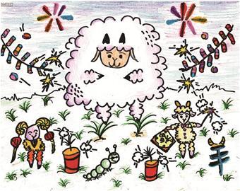 微信聊天背影可爱小羊图片
